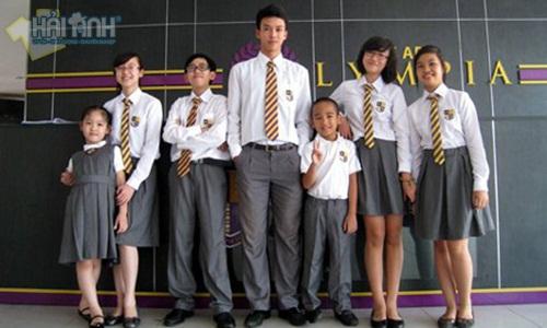 đồng phục học sinh mùa hè của trường omympia