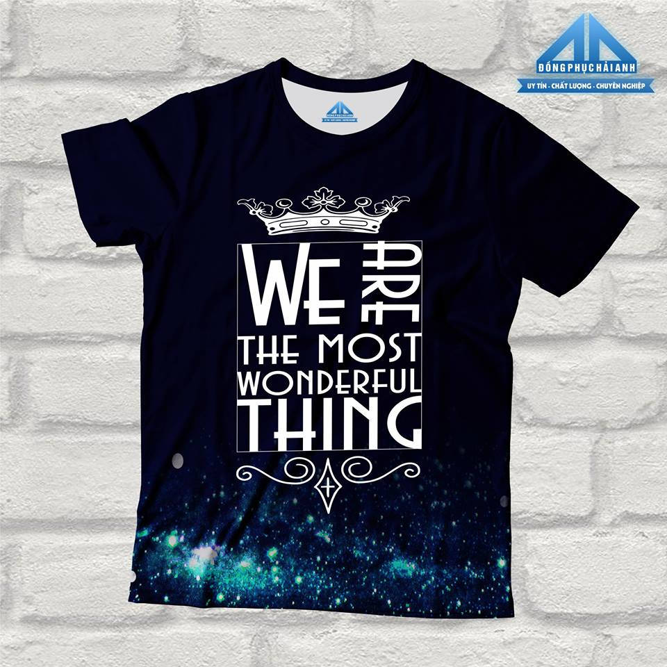 Mẫu áo lớp chuyên Anh - We are the most wonderfull thing