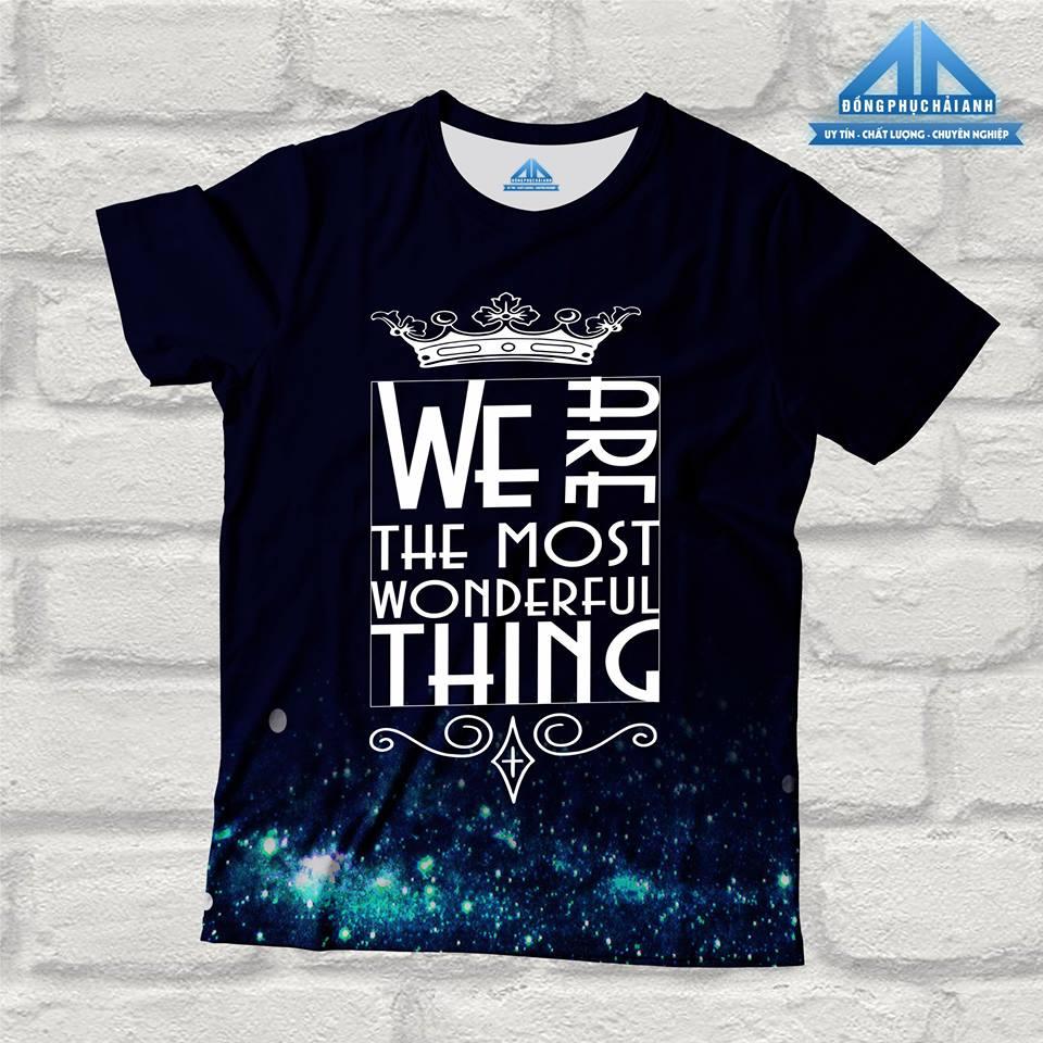 Mẫu áo lớpchuyên Anh - We are the most wonderfull thing