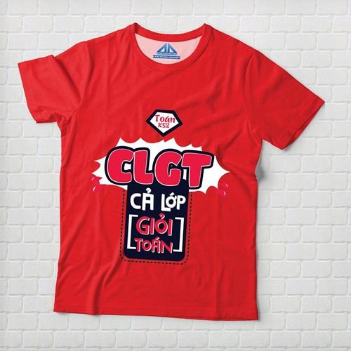 Mẫu áo lớp chuyên toán thiết kế theo phong cách typography