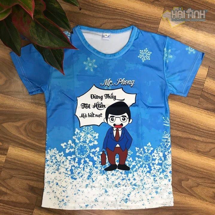 """Mẫu áo lớp dễ thương in hình chibi - Mr. Phong """" Đừng thấy tôi hiền mà bắt nạt"""