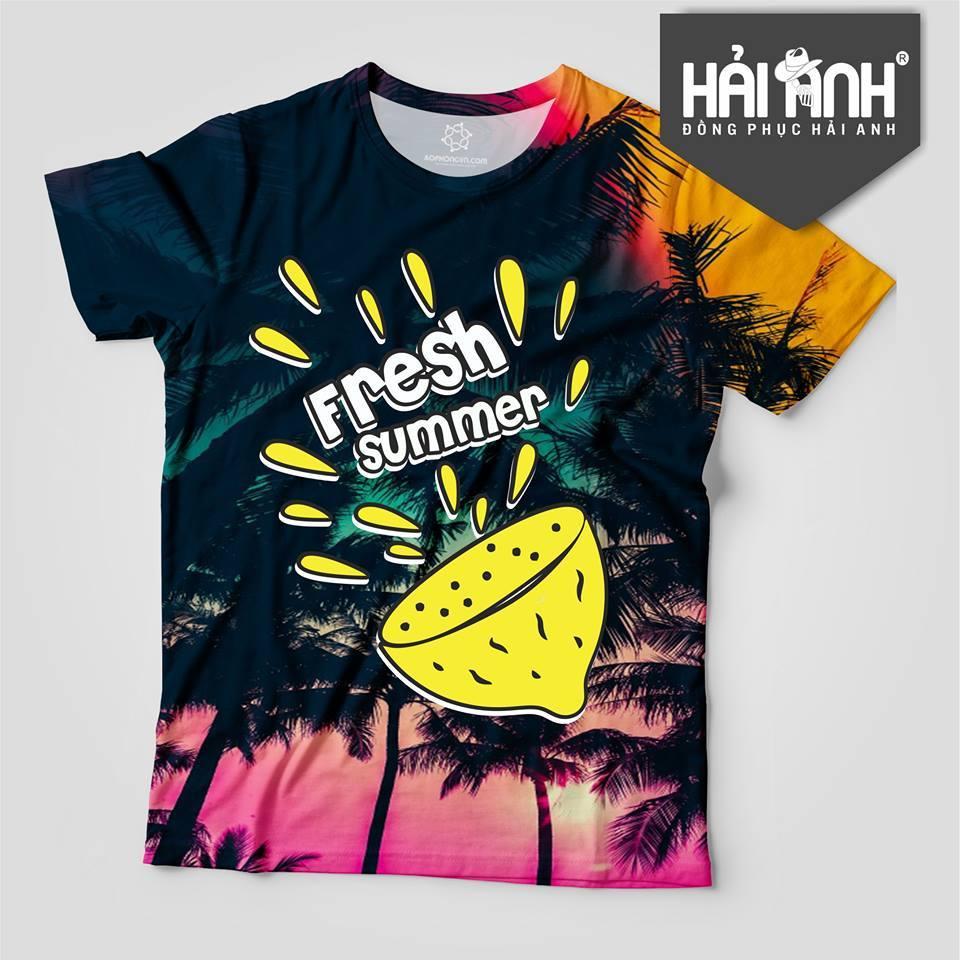 Mẫu áo lớp hoa quả - Fresh Summer