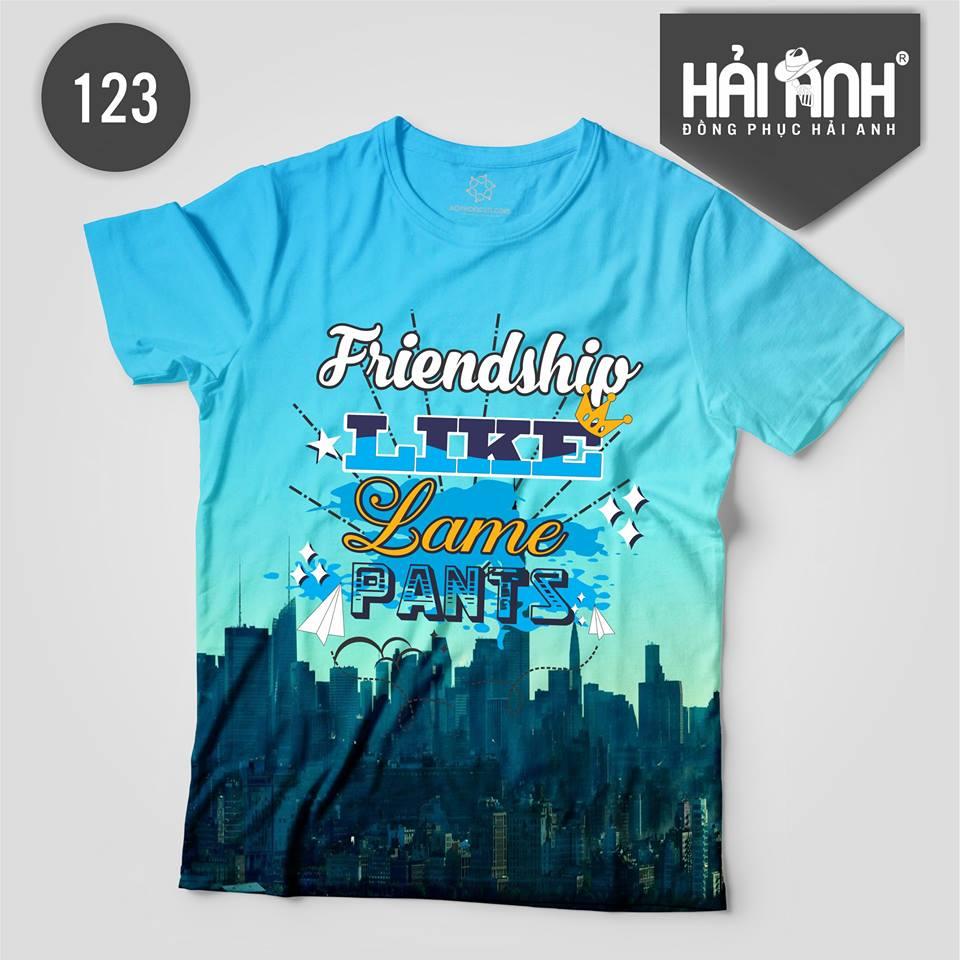 Áo lớp màu xanh dương - Friendship like lame pants