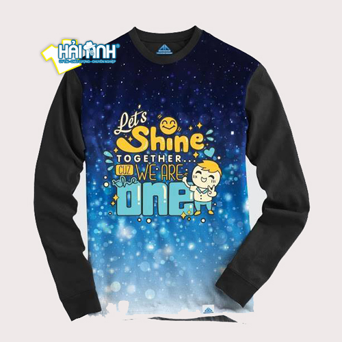 Mẫu áo lớp mùa đông Hoodie - Let's Shin together, We are the one