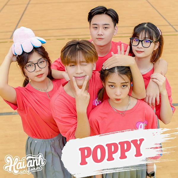 """Mẫu áo lớp oversize màu hồng đất Poppy - """"Đôi khi tình bạn còn lãng mạn hơn tình yêu"""""""