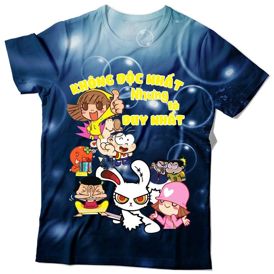 Áo thun lớp dễ thương cổ tròn anime - Không độc nhất nhưng là duy nhất