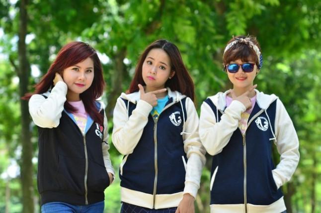 Đồng phục học sinh cấp 2 áo nỉ khá phổ biến hiện nay