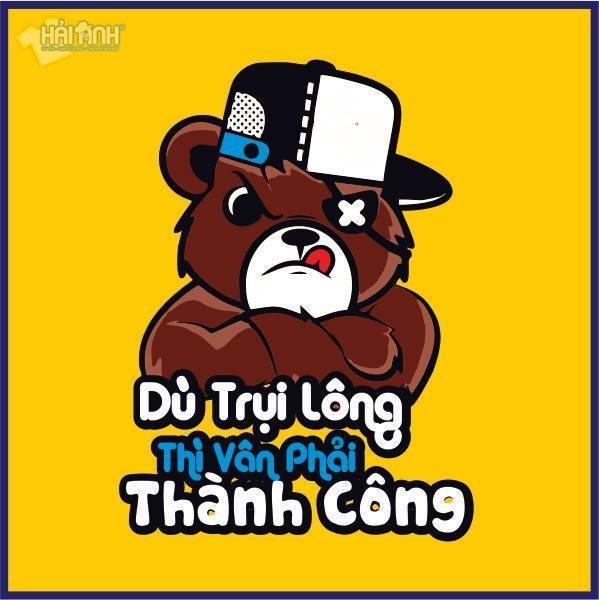 Mẫu logo áo lớp hình con gấu ngộ nghĩnh, đáng yêu