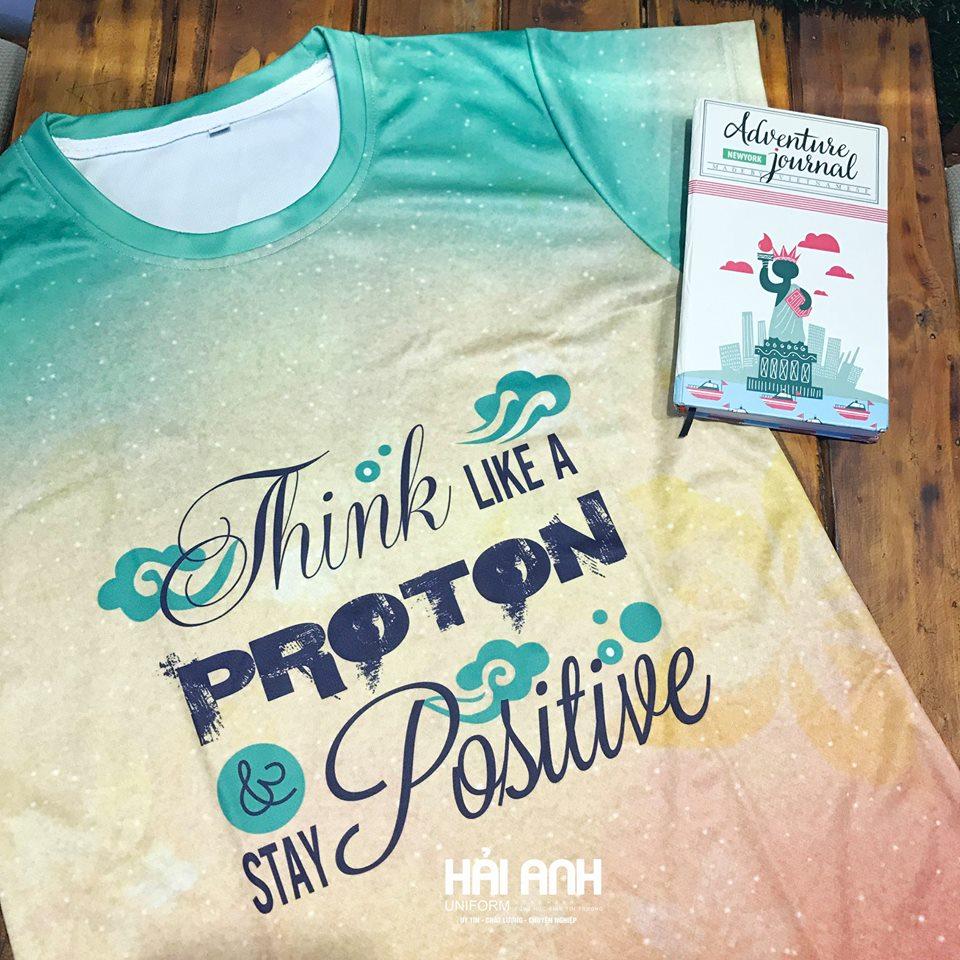 Màu áo lớp đẹp thể hiện ngay qua mẫu áo - Think like a proton stay positive