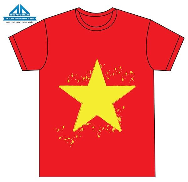 Mẫu áo cờ đỏ sao vàng 3