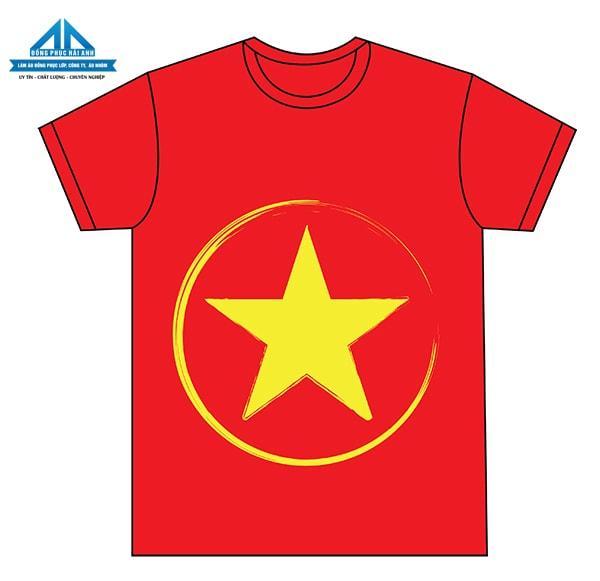Mẫu áo cờ đỏ sao vàng 4