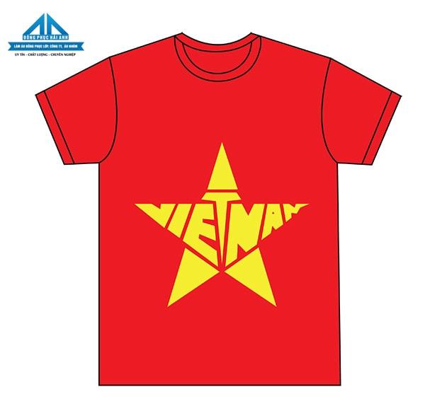 Mẫu áo cờ đỏ sao vàng 5