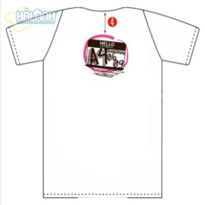 Mẹo thiết kế áo lớp trực tuyến về logo in mặt sau áo