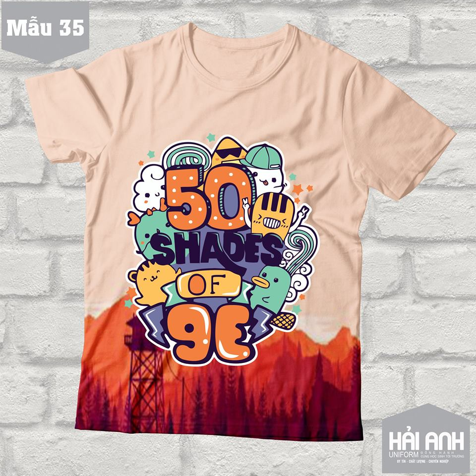 Mẫu thiết kế áo lớp trực tuyến - 50 Shades of 9E